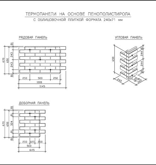 клинкерные фасадные термопанели Европа